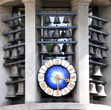 Clock on Bahnhofstrasse in Zurich, Switzerland Stock Photo
