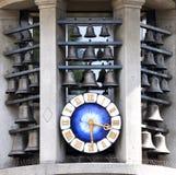 Clock on Bahnhofstrasse in Zurich, Switzerland Stock Photo