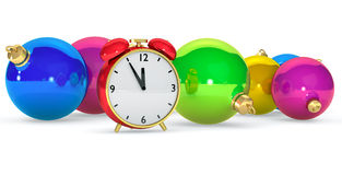Clock with balls Stock Photography