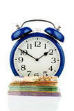 Clock and banknotes Royalty Free Stock Images