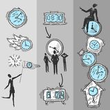 Clock Banners Set Royalty Free Stock Images