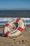 Clock on the beach Stock Photography