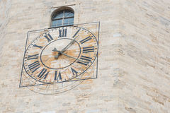 A clock being also a sun dial Stock Photography