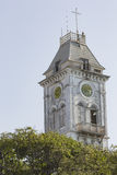 Clock on bell tower of the Stone Town palace museum (house of wo Stock Image