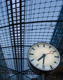 Clock at Berlin train station Stock Image