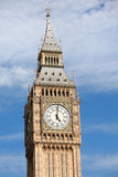 Clock Big Ben (Elizabeth tower) at 5 o'clock Royalty Free Stock Image