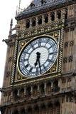 Clock of Big Ben, London gothic architecture, UK Stock Image