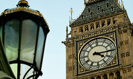 Clock in the Big Ben. The Clock Tower of Big Ben in London Royalty Free Stock Images