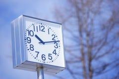 Clock,. A big clock in garden Stock Photo