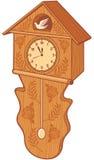 Clock bird. Wooden cuckoo clock, bird wall clock Royalty Free Stock Images