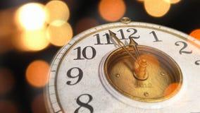 Clock on Black Stock Image