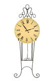 Clock on Black Iron Pedestal Royalty Free Stock Photo