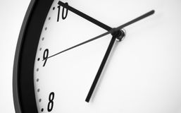 Clock black and white stock photos