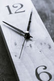Clock Black and White Stock Image
