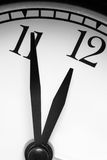 Clock, black and white photo Royalty Free Stock Images