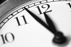 Clock, black and white photo Stock Images
