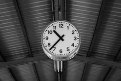 Clock in black and white Royalty Free Stock Images