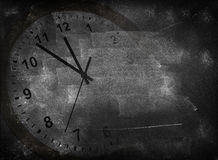 Clock and blackboard Royalty Free Stock Images