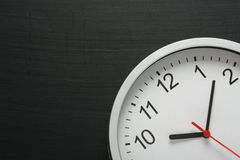 Clock and Blackboard Royalty Free Stock Photo