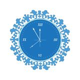Clock blue Stock Photography