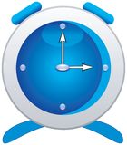 Clock blue Royalty Free Stock Image