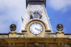Clock and blue sky 1 Stock Photo
