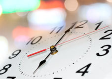 Clock with blur background. Time concept. Stock Image
