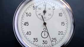 Clock on a blurry background stock video footage