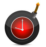 Clock in a bomb. Illustration Stock Photography