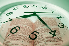 Clock and Book Royalty Free Stock Photos