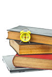 Clock on book as time management Stock Images