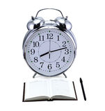 Clock with book Royalty Free Stock Photos