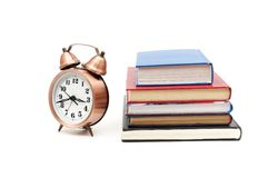 Clock and books Royalty Free Stock Image