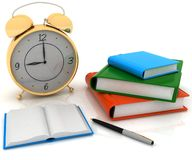 Clock and books Stock Photo