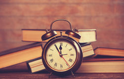 Clock and books Royalty Free Stock Photography