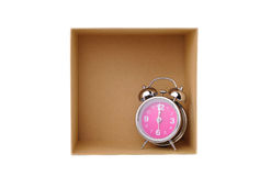 Clock in box Royalty Free Stock Image