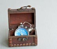 Clock in box Royalty Free Stock Image