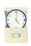 Clock in Box Stock Photos