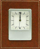 Clock with brown frame Royalty Free Stock Photos