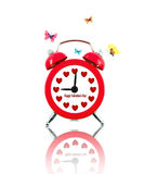 Clock with butterflies and hearts instead of numbers Royalty Free Stock Images