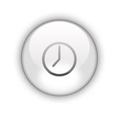 Clock button Royalty Free Stock Image