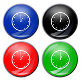 Clock button stock image