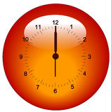 Clock button or icon Royalty Free Stock Images