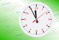 Clock on Calendar Stock Images