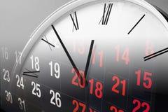 Clock and Calendar Royalty Free Stock Photos