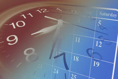 Clock and Calendar Royalty Free Stock Images