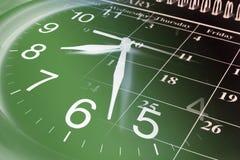 Clock and Calendar Royalty Free Stock Photo