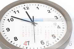 Clock and calendar Stock Images