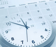 Clock and calendar Stock Photos