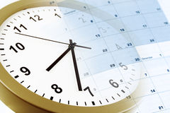 Clock and calendar Royalty Free Stock Photography